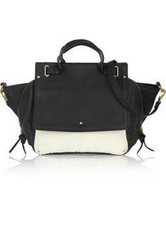 Jerome Dreyfuss Johan leather and snake-effect shoulder bag...