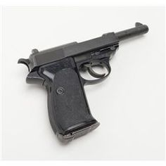 """Walther P1 DA semi-auto pistol, 9mm cal., 5"""" barrel, mat black finish, checkered black plastic gripLoading that magazine is a pain! Get your Magazine speedloader today! http://www.amazon.com/shops/raeind"""