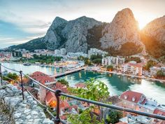 Omis, the Croatian town that is surrounded by mountainous rocks. Breathtaking.