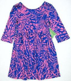 LILLY PULITZER Small Mini EVELYN Blue ROLLIN In The GRASS Bow Dress NWT S 4 5 #LillyPulitzer #DressyEveryday