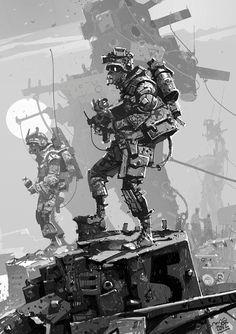 'Man O' War' sketch.