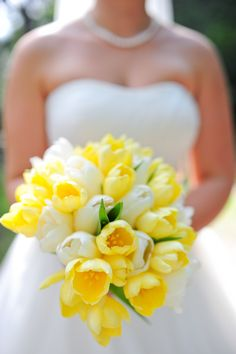 #yellow #tulips | Fort Lauderdale Wedding from Jillian Tree Photography Read more - http://www.stylemepretty.com/florida-weddings/2013/10/17/fort-lauderdale-wedding-from-jillian-tree/