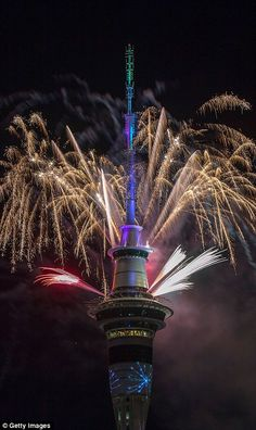 The New Year was heralded with a bang in New Zealand...