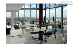 Luxurious, Stylish Penthouse In Miami. Miami Residence, Florida Design,  Living Room Modern