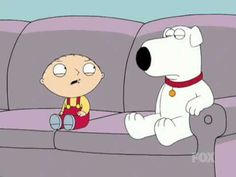 Stewie talking about Brian's Novel Family Guy
