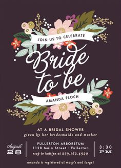 Pick a pretty posy – or two! We adore the rustic floral detail on these  illustrated bridal shower invites.  #Bridal Shower Invitation Ideas . See 21 more invite ideas here: http://www.confettidaydreams.com/bridal-shower-invitation-ideas/
