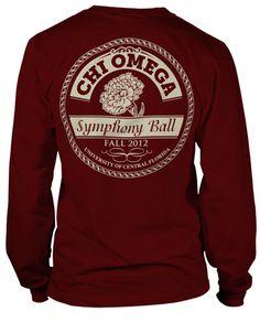 Chi Omega Long Sleeve Symphony Ball T-shirt