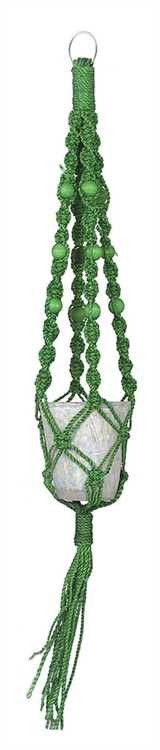 Abaca Macrame Plant Holder, Green