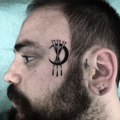 Face Tattoos, Body Modifications, Facial, Black And Grey Tattoos, Blackwork, Tattoos For Guys, Tatting, Body Art, Piercings