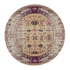 Safavieh MNC209R Monaco Ivory and Pink Area Rug