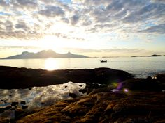 Magical sunset close to Bodö, starting Point for our women travel to the Lofoten Island´s. Lofoten, Norway, Hiking, Island, Mountains, Sunset, Water, Travel, Outdoor