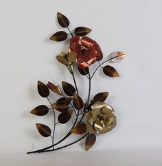 TWG Metal Wall Art Modern Wall Sculptures: Stem Flowers - Dogwood * Check out this great product. (This is an affiliate link and I receive a commission for the sales) Metal Flower Wall Art, Metal Tree Wall Art, Flower Wall Decor, Metal Flowers, Modern Wall Sculptures, Tree Art, Art Gallery, Web Images, Painting