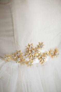Gold Star Bridal Sash, rhinestone wedding sash,bridal sash, Abigail Grace Bridal