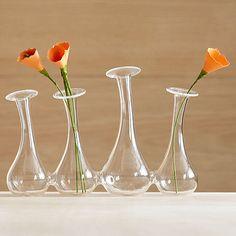 Glass bud vase system