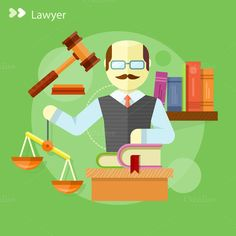 Lawyer Icons Concept by robuart on Creative Market