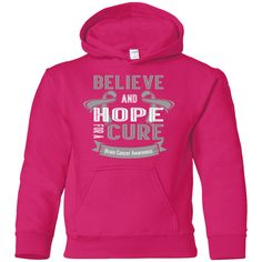 Youth Pullover Hoodie - Believe & Hope for a cure....