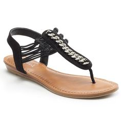 Candie's® Women's Jeweled Sandals - Black
