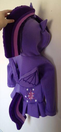 My Little Pony inspired Twilight Sparkle hoodie (child sizes) on Etsy MagicPrincessWhitney Magic Princess Whitney Rainbow Dash