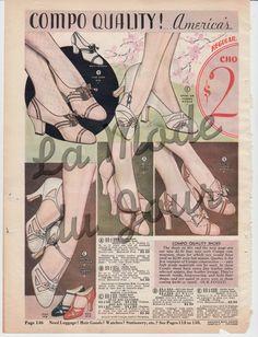 Art Deco tacco alto scarpe Chicago moda catalogo Page Ladies di annata 1930' 145/146 di LaModeduJour su Etsy https://www.etsy.com/it/listing/229373435/art-deco-tacco-alto-scarpe-chicago-moda