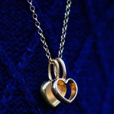 """Love our Hollow and Solid Heart Charms! Perfect for Christmas! Get yours now and free shipping on ALL orders at www.katiemullally.co.uk #KatieMullally…"""
