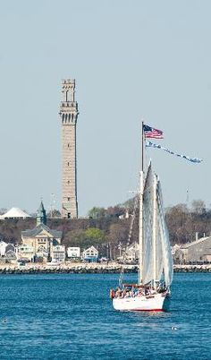Pilgrim Monument seen from the Ocean - Provincetown