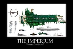 Scale: Warhammer 40K vs the Federation.
