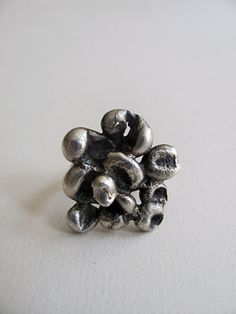 Silver Cluster Ring. $110.00, via Etsy.