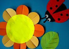 Origami z kół :) Spring Crafts For Kids, Autumn Crafts, Diy For Kids, Circle Crafts, Circle Art, Panda Craft, Board Decoration, Paper Animals, Shape Art