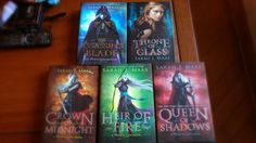 One of my favorite series of all time. Isn't that gorgeous? :) #ThroneOfGlass #CrownOfMidnight #HeirOfFire #QueenOfShadows #TheAssassinsBlade