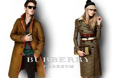Burberry S/S12 campaign featuring Eddie Redmayne and Cara Delevingne.  Want his clothes!