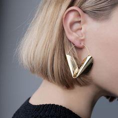 Dali Hoop Gold Earrings