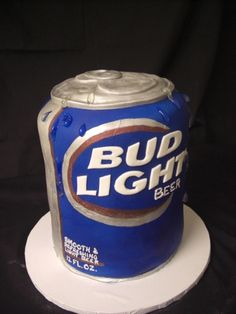 Bud Light Can Grooms Cake