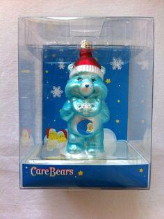 New In Box The Care Bears Bedtime Sleepy Bear Glass Christmas Ornament