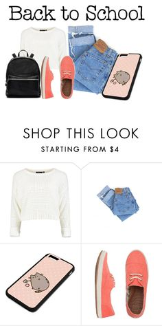 """""""#PVxPusheen"""" by lululafitte on Polyvore featuring moda, Levi's, Pusheen, Reef, Elizabeth and James, contestentry y PVxPusheen"""