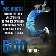 MS Dhoni enters an exclusive club of glovesmen who have taken 600 or more catches in international India Cricket Team, Cricket Sport, Live Cricket, Cricket Match, Cricket Games, Ms Doni, History Of Cricket, Dhoni Quotes, Ms Dhoni Photos