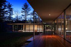 Scott Frances photography of the delightful Glass Wood House designed by Kengo Kuma