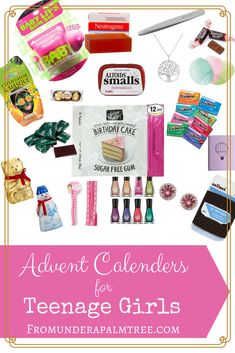 Advent Calendars for Teenage Girls < From Under a Palm Tree Teenage Advent Calendar, Makeup Advent Calendar, Advent Calendar Fillers, Advent Calander, Advent Calendar Activities, Advent Calendar Gifts, Advent For Kids, Advent Ideas, Christmas Calendar