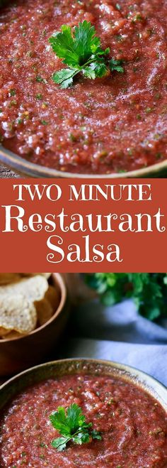 Packed with flavor and fresh ingredients and fabulous spices, this is the best TWO MINUTE Blender Salsa I've ever tried!  gluten free, dairy free, vegan, vegetarian,  