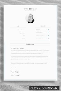 Job Winning Modern Cover Letter Template - Expertly Designed to ensure your CV / Job Applications gets read by Hiring Managers If you like this cv template. Check others on my CV template board :) Thanks for sharing! Cover Letter Layout, Cover Letter Design, Cover Letters, Cover Letter Template, Letter Templates, Graphic Design Cv, Cv Design, Resume Design, Portfolio Resume