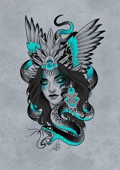 Dark Art Tattoo, Gothic Tattoo, Tattoo Flash Art, Neo Traditional Art, Traditional Tattoo Design, Skull Tattoos, Body Art Tattoos, Sleeve Tattoos, Tattoo Design Drawings