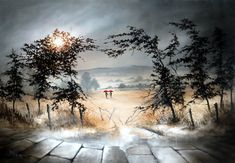 Bob Barker is a UK based artist, born and bred in Yorkshire. It's taken Bob Barker twenty years for his long time love of painting to evolve from a hobby to the point where interest in his work has taken on worldwide awareness. Kids Watercolor, Watercolor Flowers, Watercolour, Oil Paint Set, Art For Kids, Backdrops, Nostalgia, Bob, Black And White