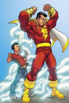 Shazam Gold Logo officiel CAPTAIN MARVEL DC COMICS Noir T-shirt Homme