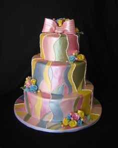 Pucci-inspired hand painted wedding cake  www.sublimebakery.com