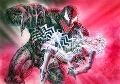 Luis Royo - Silver Sable & Venom, in RolandT.'s Luis Royo Comic Art Gallery Room - 995808