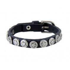Stars Design Caw Leather Bracelet