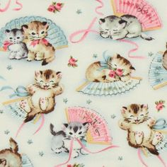 "Can I just say... Cute ""Smitten Kittens"" fabric ɞ"