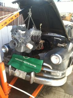 Putting a new motor in our hearse. Come along for the ride: Carpe Mortem - The Resurrection of a 1951 Hearse on Tumblr.