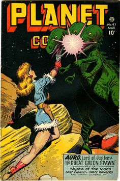 Planet Comics #47 (March 1947), cover by Joe Doolin