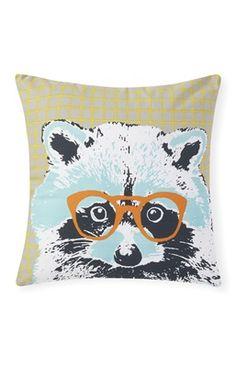 Racoon Glasses Cushion