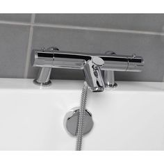 With a luxurious and minimalist design, the Thermostatic shower mixer tap will look superb deck mounted onto any Victoria Plumb bath. Designed with safety in mind the thermostatic control on this thermostatic shower tap will keep you and your family bathing in safety.